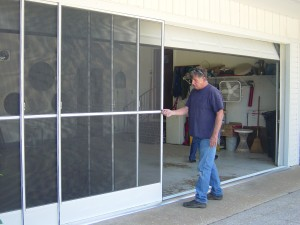 garage screen and gutters 003